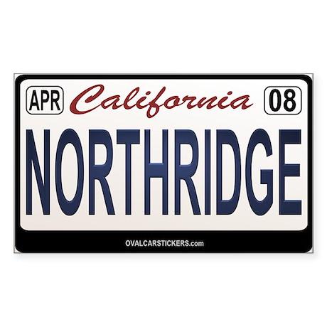 California License Plate Sticker - NORTHRIDGE
