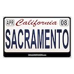 California License Plate Sticker - SACRAEMENTO