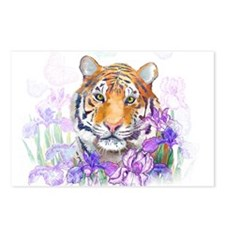 Tiger in Flowers Postcards (Package of 8)