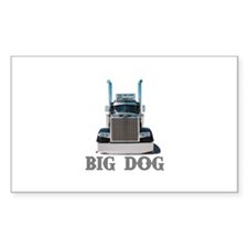 Big Dog Rectangle Decal