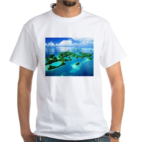 Rock islands palau white t shirt rock islands palau t for T shirt printing in palmdale ca