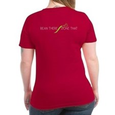 Bean There Women'S V-Neck Dark T-Shirt