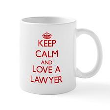 Keep Calm and Love a Lawyer Mugs
