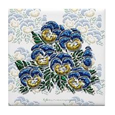 Pansy Tile Coaster
