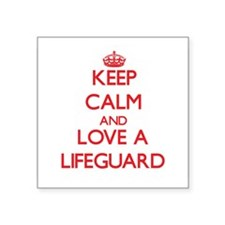 Keep Calm and Love a Lifeguard Sticker