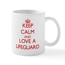 Keep Calm and Love a Lifeguard Mugs
