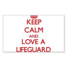 Keep Calm and Love a Lifeguard Decal
