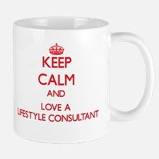 Keep Calm and Love a Lifestyle Consultant Mugs