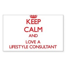 Keep Calm and Love a Lifestyle Consultant Decal