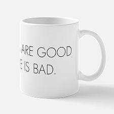 Lines Good, Love Bad Mug
