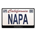 California License Plate Sticker - NAPA