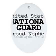 Proud National Guard Nephew Oval Ornament