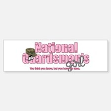 natlguardsmanssgirl-camo-hat2 Bumper Bumper Bumper Sticker