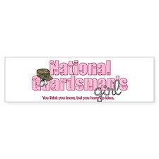 natlguardsmanssgirl-camo-hat2 Bumper Bumper Sticker