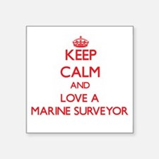 Keep Calm and Love a Marine Surveyor Sticker