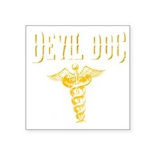 "Devil Doc Square Sticker 3"" x 3"""