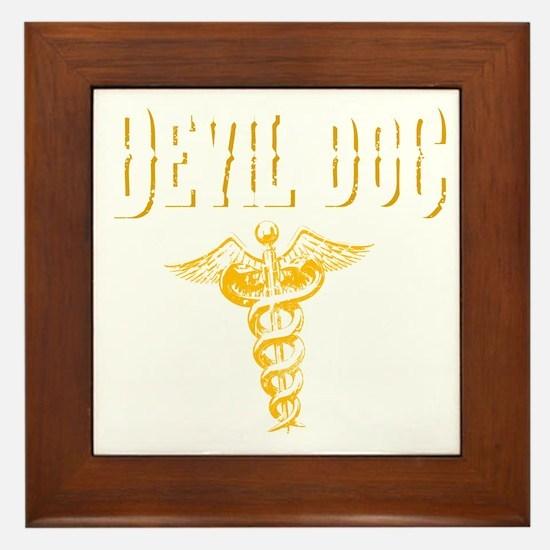 Devil Doc Framed Tile
