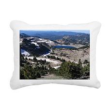 View from Mt. Lassen Rectangular Canvas Pillow
