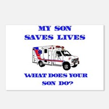 Ambulance Saves Lives-Son Postcards (Package of 8)