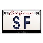 California License Plate Sticker - SF