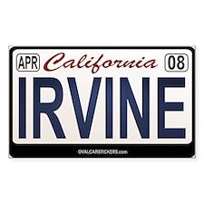 California License Plate Sticker - IRVINE
