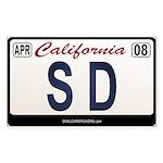 California License Plate Sticker - SD
