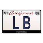 California License Plate Sticker - LB