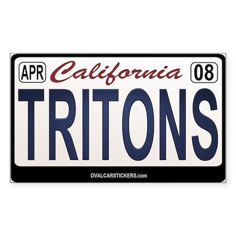 California License Plate Sticker - TRITONS