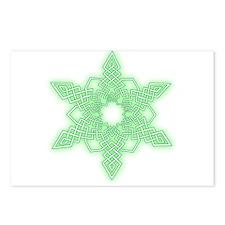 Green Glow Snowflake Postcards (Package of 8)
