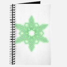 Green Glow Snowflake Journal