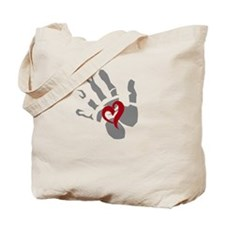 Hold A Heart Tote Bag