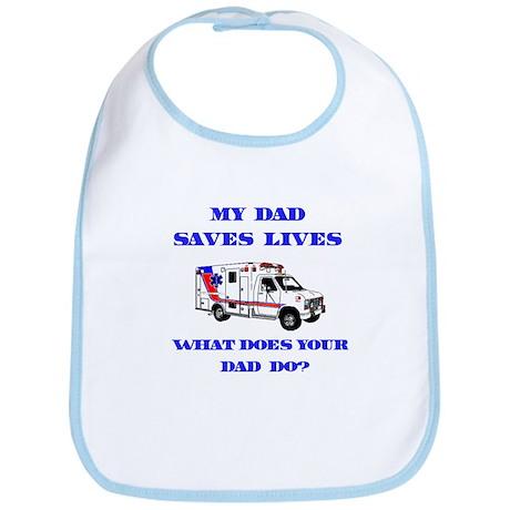 Ambulance Saves Lives-Dad Bib