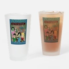 Zombies Go To School Drinking Glass