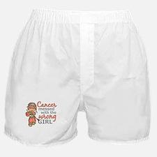 Combat Girl Uterine Cancer Boxer Shorts
