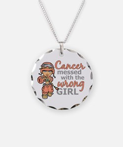 Combat Girl Uterine Cancer Necklace