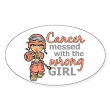 Combat Girl Uterine Cancer Decal