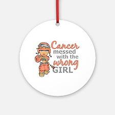 Combat Girl Uterine Cancer Ornament (Round)
