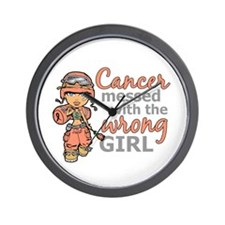 Combat Girl Uterine Cancer Wall Clock
