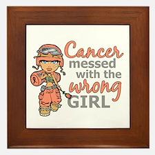 Combat Girl Uterine Cancer Framed Tile