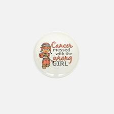 Combat Girl Uterine Cancer Mini Button (10 pack)