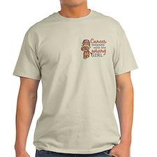 Combat Girl Uterine Cancer T-Shirt