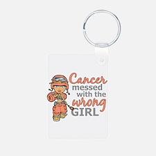 Combat Girl Uterine Cancer Keychains