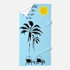 Grow Old Beach Towel