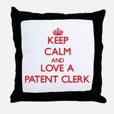 Keep Calm and Love a Patent Clerk Throw Pillow