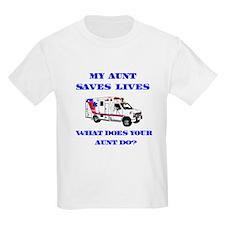 Ambulance Saves Lives-Aunt T-Shirt