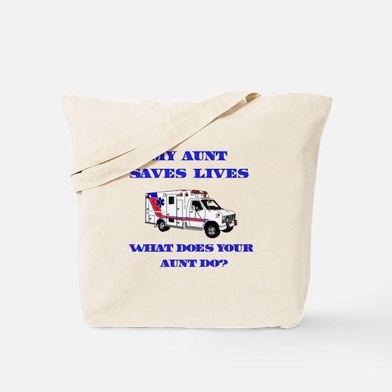 Ambulance Saves Lives-Aunt Tote Bag