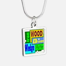 Golf Clubs Design Necklaces