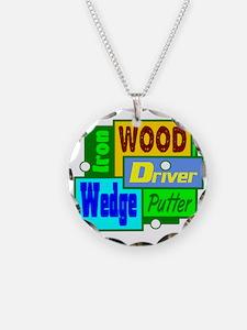 Golf Clubs Design Necklace