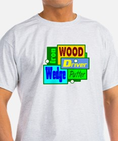 Golf Clubs Design T-Shirt