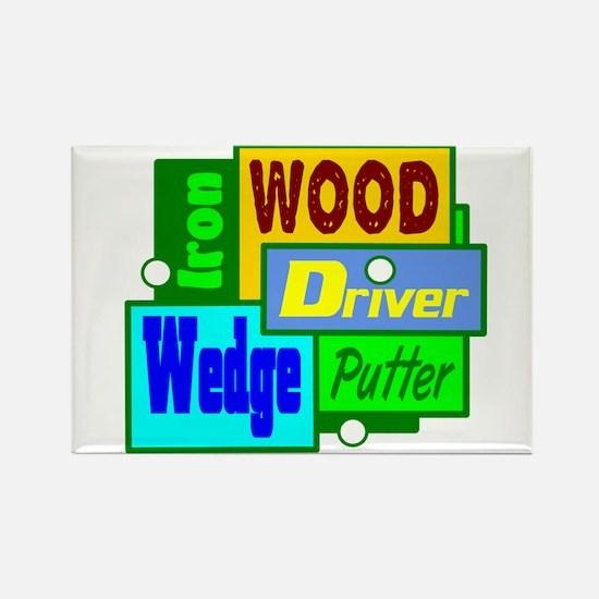 Golf Clubs Design Magnets